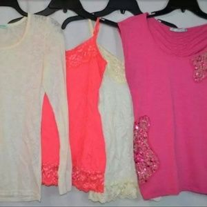 Maurices 4 Piece LOT Tops Blouses Small